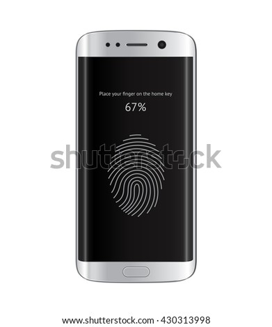 Edge smart phone with fingerprint privacy security access