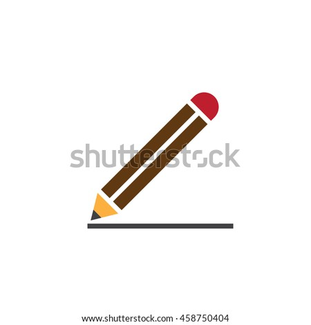 Edit icon vector, pencil solid logo, colorful pictogram isolated on white, pixel perfect illustration