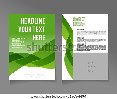 Editable A4 poster for design  presentation, website, magazine, ECO style  and green colors. - stock vector