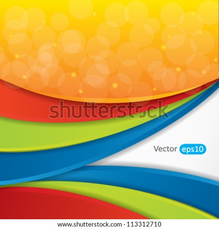 Editable abstract vector background with colorful design - stock vector