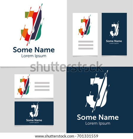 Editable business card template j letter stock vector 701331559 editable business card template with j letter logoctor illustrationeps10 wajeb Image collections