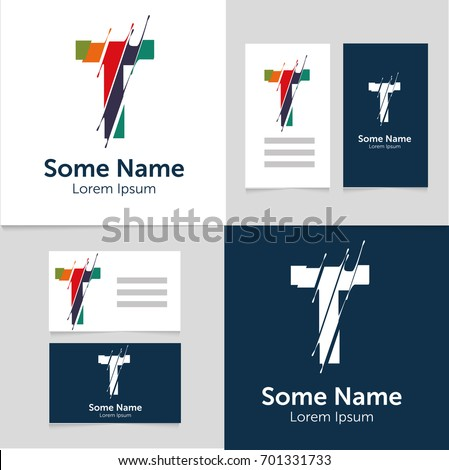 Editable business card template t letter stock vector hd royalty editable business card template with t letter logoctor illustrationeps10 thecheapjerseys Image collections