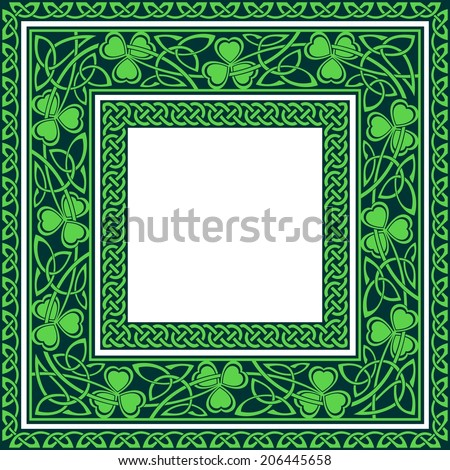 editable Celtic borders - stock vector