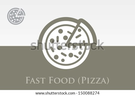 Editable Colourful Vector Icon of Pizza Eps 10 - stock vector