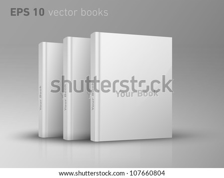 Editable EPS 10 vector books - stock vector