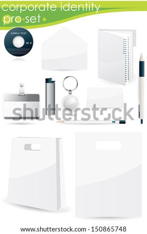 editable for identity objects - stock vector
