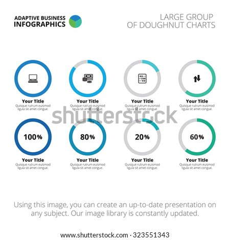 Editable infographic template large group doughnut stock vector editable infographic template of large group of doughnut charts ccuart Gallery