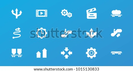 Editable 15 Motion Icons Escalator Up Stock Vector 1015130833