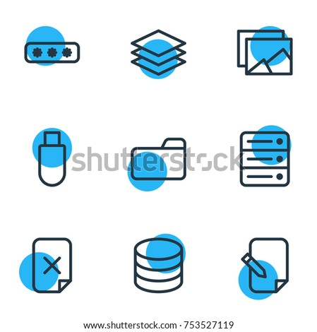 Editable Pack Datacenter Agreement Layer Other Stock Vector