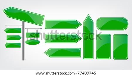 Editable street signs - stock vector