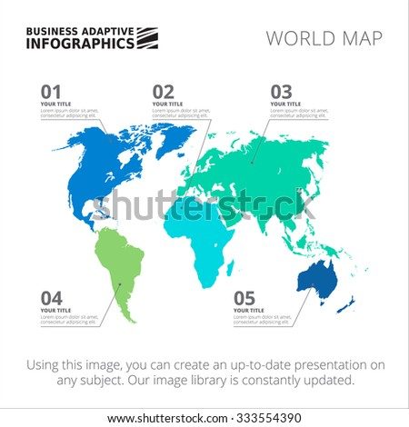 World map illustration infographics geometric concept stock vector editable template of world map with marks isolated on white gumiabroncs Image collections