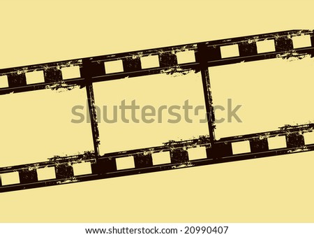 Editable vector film frame background with space for your text or image.  More images like this in my portfolio - stock vector