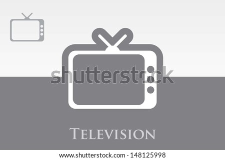 Editable Vector Icon of TV (Television) - stock vector