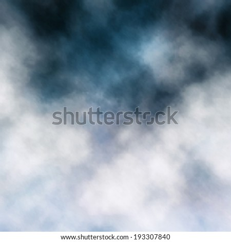 Editable vector illustration detail of white clouds on dark clouds made using a gradient mesh - stock vector