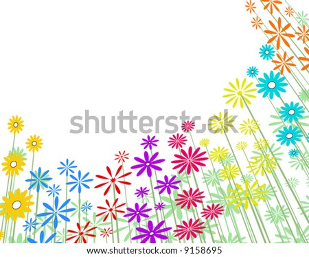 Editable vector illustration of a flowery background