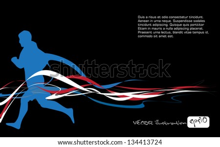 Editable vector illustration of sport - stock vector