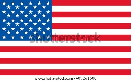 Editable vector image of american flag - united states of america - usa