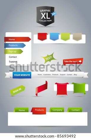 Editable web graphics - stock vector