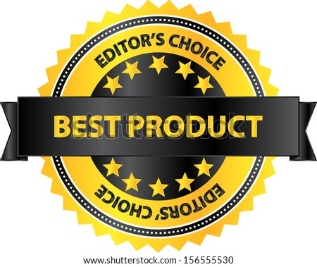 Editors Choice Best Product Of The Year Badge - stock vector