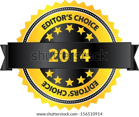 Editors Choice Product Of Year 2014 - stock vector
