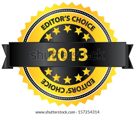 Editors Choice Product Of Year 2013 - stock vector