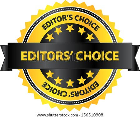 Editors Choice Quality Product Badge - stock vector
