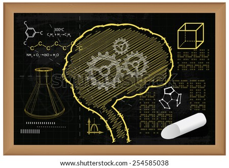 Education Abstract - Illustration - stock vector