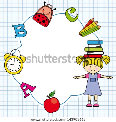 Education and school icon set. Space for text or photo - stock vector