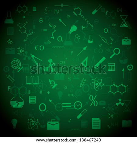 education and science. background vector. eps10 - stock vector