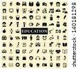 education big set - stock photo
