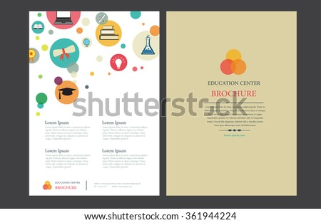 Education Center Brochure Layout Design - A4 Vector Template - stock vector