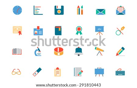 Education Colored Vector Icons