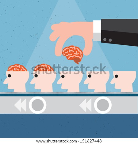 Education concept and New brain concept,Vector - stock vector