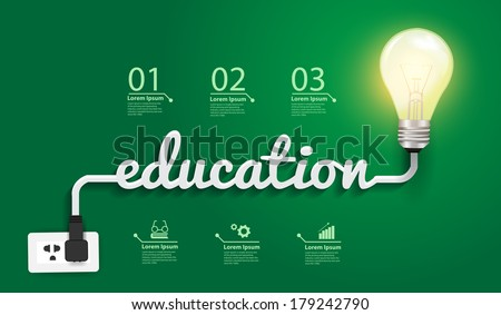 Education concept, Creative light bulb idea abstract infographic  layout, diagram, step up options, Vector illustration modern design template - stock vector