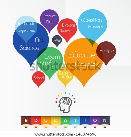 Education concept related words in tag cloud - stock vector