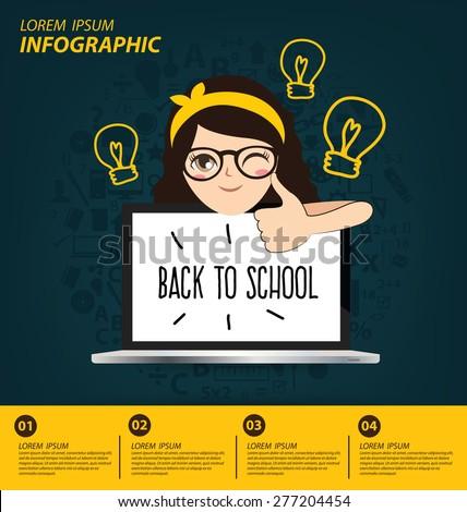 Education concept vector Illustration - stock vector