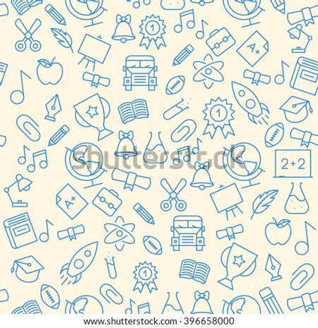 Education Icon Seamless - stock vector