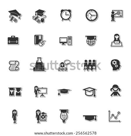 Education icon set 5 - stock vector