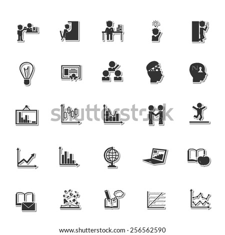 Education icon set 7 - stock vector