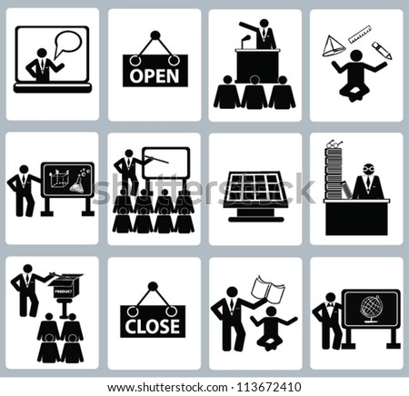Education Icon set,and resource,Vector - stock vector