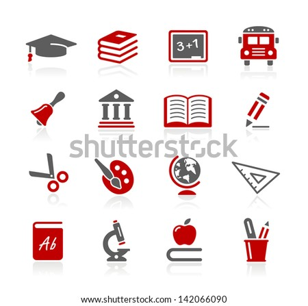 Education Icons // Redico Series - stock vector