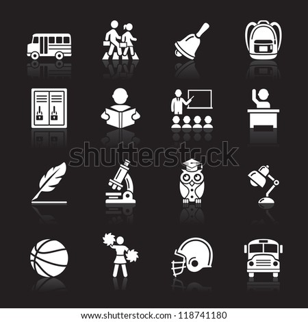 Education Icons set 3. Vector Illustration. More icons in my portfolio. - stock vector