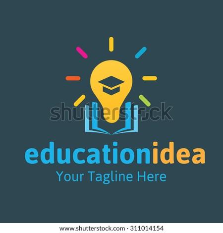 Education idea logo,Vector Logo template. - stock vector