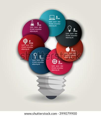 education infographic design  - stock vector
