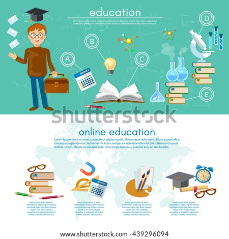 Education Infographics Open Book Knowledge School Stock Vector ...