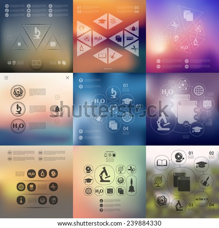 education infographic with unfocused background - stock vector