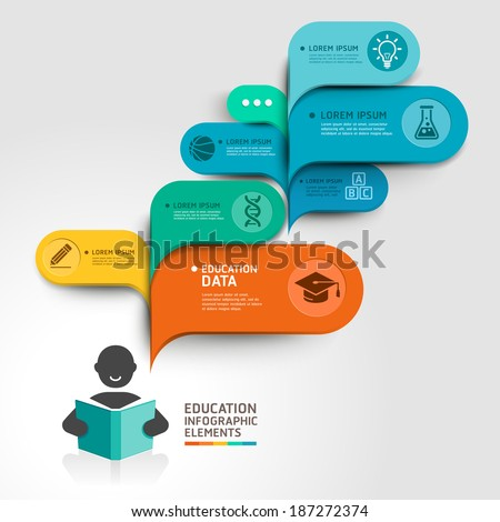 Education Infographics step option. Vector illustration. can be used for workflow layout, banner, diagram, number options, step up options, web design. - stock vector