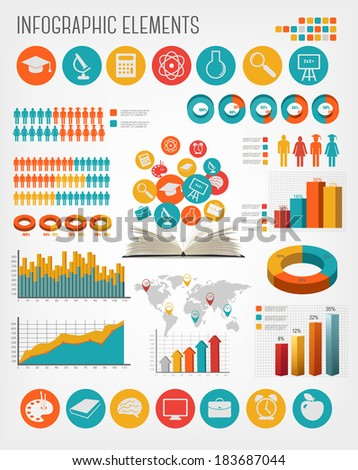 Education infographics. Vector. - stock vector