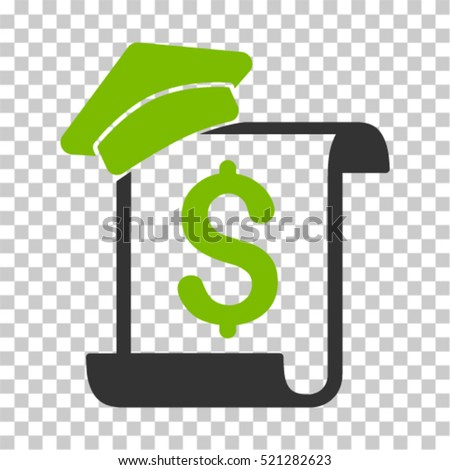 Education Invoice Icon Vector Pictogram Style Stock Vector
