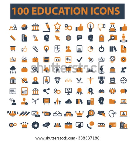 education, learning, study, science, research  icons, signs vector concept set for infographics, mobile, website, application  - stock vector